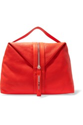 Mcq By Alexander Mcqueen Hobo Textured Leather Tote Papaya