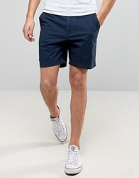 Hollister Prep Chino Shorts In Navy