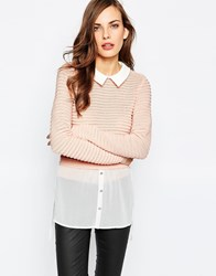 Lipsy Shirt With Layered Jumper Pink