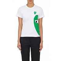 Comme Des Garcons Play Women's Graphic Cotton T Shirt White