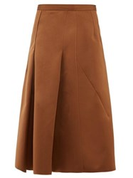 N 21 No. A Line Satin Skirt Light Brown