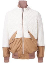 Sacai Knitted Bomber White