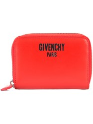 Givenchy Zip Around Logo Wallet Red