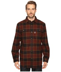 Carhartt Hubbard Plaid Shirt Dark Cedar Men's Long Sleeve Button Up Black