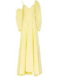 Rosie Assoulin Ups And Downs Asymmetric Gown Yellow