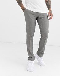 Farah Elm Puppytooth Trousers In Black