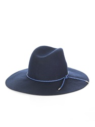 Emilio Pucci Woven Leather And Felt Hat