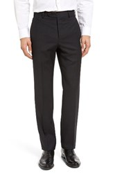 Zanella Men's Devon Flat Front Dot Wool Trousers