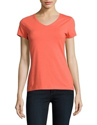 Lord And Taylor Organic V Neck Tee Orange
