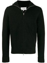 Maison Martin Margiela Zipped Knitted Cardigan Black