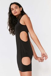 Silence And Noise Circle Cutout Bodycon Dress Black