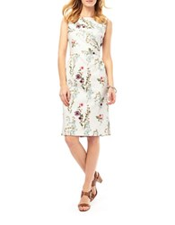 Phase Eight Sleeveless Floral Shift Dress Ivory
