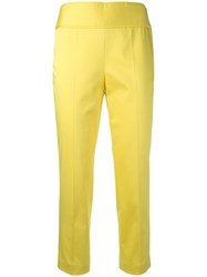 Boutique Moschino Cropped Trousers Yellow Orange