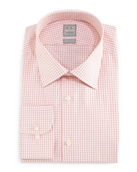 Ike Behar Graph Check Dress Shirt Orange