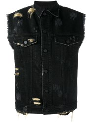 Filles A Papa Joy Denim Gilet Black