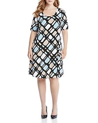 Karen Kane Plus Graphic Print A Line Dress