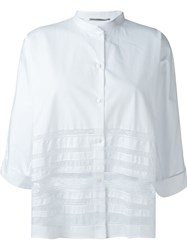 Ermanno Scervino Sheer Lace Detailing Shirt White