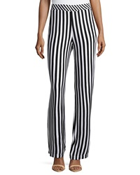 Philosophy Striped Palazzo Pants Blackbird White Star