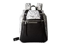 French Connection Indy Backpack Marble Print Backpack Bags White