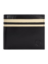Fred Perry Leather Billfold Wallet Black