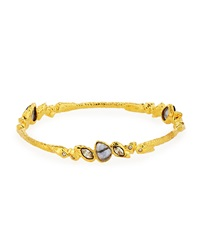 Alexis Bittar Rhinestone Bangle Bracelet Golden