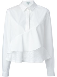 Kenzo 'Maze' Panel Tiered Shirt