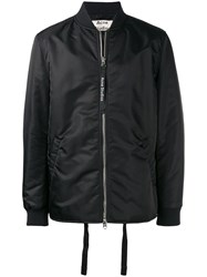 Acne Studios Zipped Bomber Jacket Black