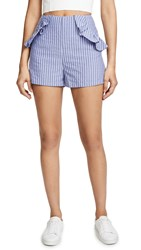 The Fifth Label Parcel Stripe Shorts Blue With White