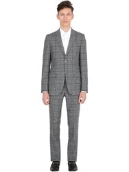 Gucci Prince Of Wales Wool Flannel Suit