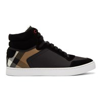 Burberry Black Reeth High Top Sneakers