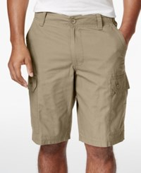Club Room Men's Solid Rip Stop Shorts Only At Macy's Creek Bed