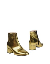 Lerre Ankle Boots Gold