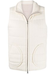 N.Peal Cable Reversible Padded Gilet 60
