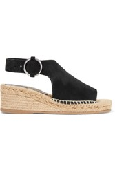 Rag And Bone Calla Suede Espadrille Wedge Sandals Black