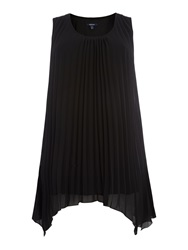 Samya Pleated Tunic Top Black