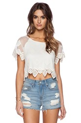 Liv Anna Lace Crop Top Ivory