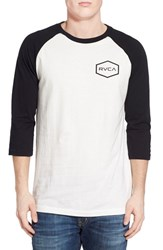Men's Rvca 'Hexed' Three Quarter Raglan Sleeve Baseball T Shirt