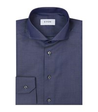 Eton Slim Fit Denim Twill Shirt Male Navy