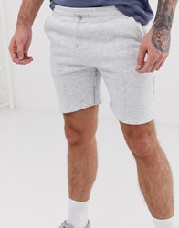 Good For Nothing Shorts In Grey Marl With Logo Side Taping