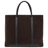 Reiss Leather Tote Bag Brown
