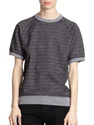 Marc By Marc Jacobs Speckled Short Sleeved Sweatshirt Grey Multi