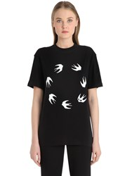 Mcq By Alexander Mcqueen Swallow Print Cotton Jersey T Shirt