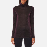 Maison Scotch Women's Long Sleeve Fitted Turtle Neck Top Combo A Purple