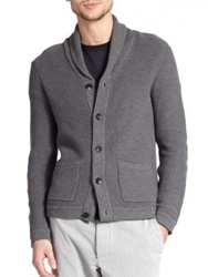 Rag And Bone Avery Waffle Stitch Cardigan Charcoal