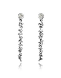 Orlando Orlandini White Gold Cascade Drop Earrings W Diamond