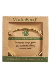 Mantraband Women's Be You Love You Engraved Cuff Gold