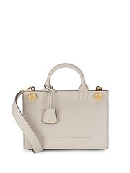 Anya Hindmarch Bow Accented Leather Crossbody Bag Grey
