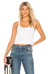 David Lerner Cropped Aiden Tank White