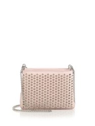 Christian Louboutin Triloubi Triple Gusset Spiked Leather Shoulder Bag Capucine Gold Ballerina Silver Black Gunmetal