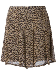 Michael Michael Kors Printed Shorts Nude And Neutrals